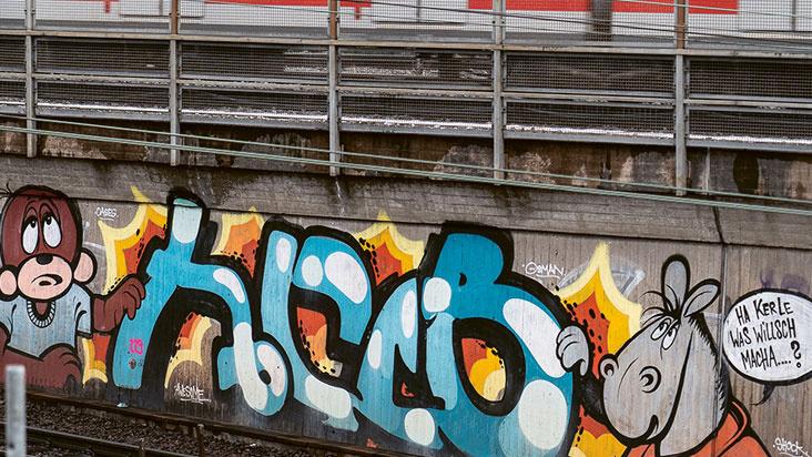 Graffiti im Kessel