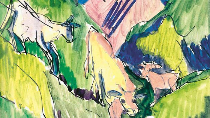 Ernst Ludwig Kirchner  - Tierleben in den Davoser Alpen