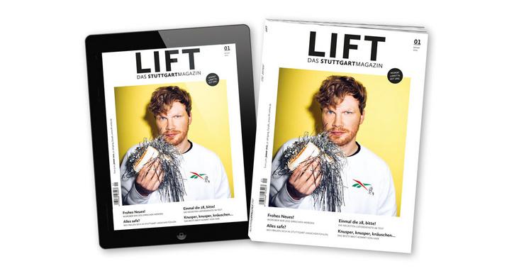 LIFT im Januar: E-Paper - LIFT-Titel auf iPad