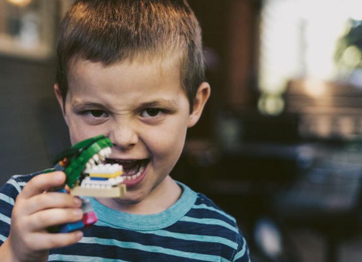 Leon zeigt Zähne