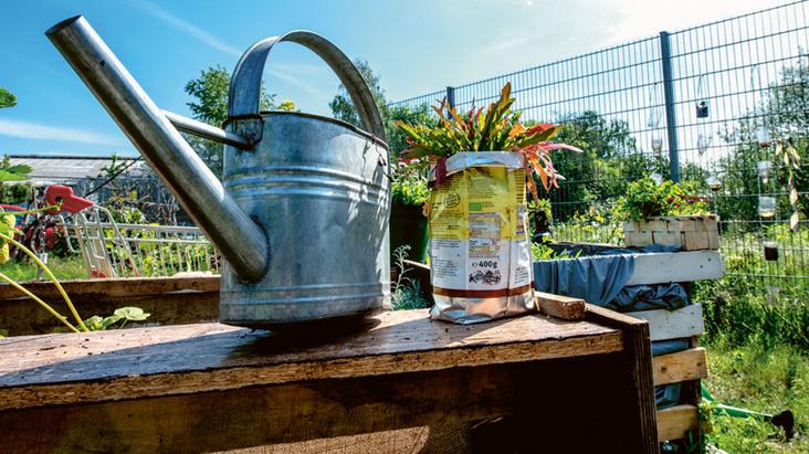 Helfertreff im urbanen Garten