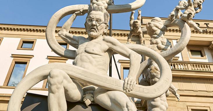 Lenk-Denkmal vor dem Stadtpalais Stuttgart